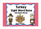 Turkey Thanksgiving Day Sight Word Race