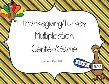 Turkey Thanksgiving Multiplication Center