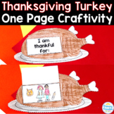 Turkey Thanksgiving Thankful: One Page Craftivity