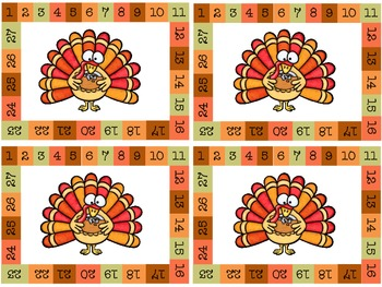 Homework Passes: Turkey Theme