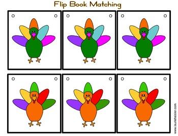 Turkey Theme Number Flip Chart