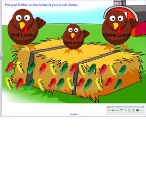 Turkey Themed Attendance/Lunch Count