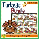 Turkey Themed Literacy & Math Bundle