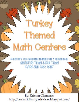 Turkey Themed Math Centers {Gobble Gobble}