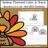 Turkey Themed Number Color and Trace