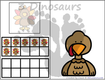 Turkey Themed Number Counting Mats