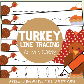 Turkey Themed Prewriting Activity Cards