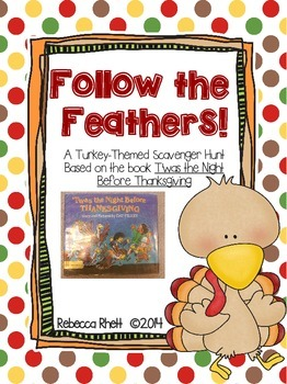 """Turkey-Themed Scavenger Hunt - """"Follow the Feathers!"""""""