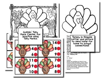 Turkey Themed Small Group With Printables, Centers, Emergent Reader and More!