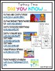 Turkey Time 100 and 120 Charts and Activities