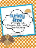 Turkey Time 2nd Grade Sight Word Game