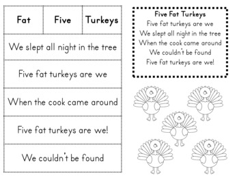 Turkey Time- A Kindergarten Math and ELA Unit