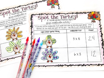 Turkey Time - A Thanksgiving Themed Multiplication Lesson Packet