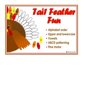 Turkey Time ABC and 123 File Folder Games