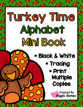 Turkey Time Alphabet Mini Book