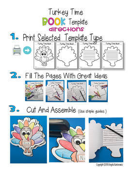 Turkey Time Book Template