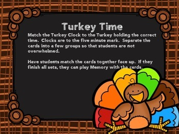 Turkey Time Center Cards