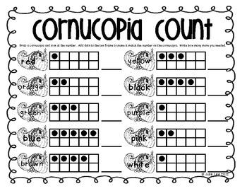 Turkey Time Common Core Math Centers