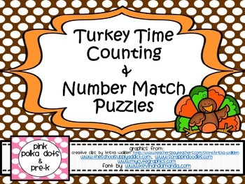 Turkey Time Counting & Number Match Puzzles