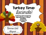 Turkey Time: Decimals {Common Core Aligned Math Center Act