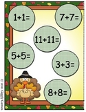 Turkey Time Doubles Addition File Folder Game