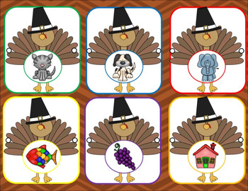 Thanksgiving - It's Turkey Time Alphabet and Beginning Sounds Activities