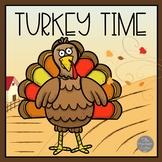 Turkey Time Emergent Reader and Make a Turkey Craft