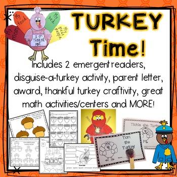 Turkey Time! Emergent Readers, Disguise a Turkey Activity,
