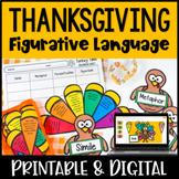 Thanksgiving Figurative Language Activity   Build a Turkey