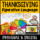 Thanksgiving Figurative Language Activity | Build a Turkey