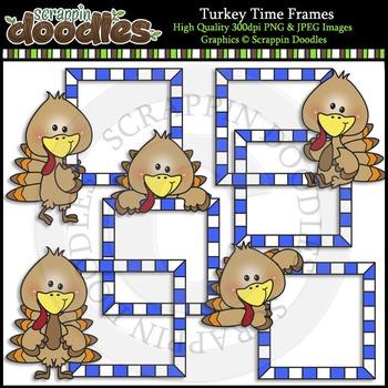 Turkey Time Frames Color & Line Art