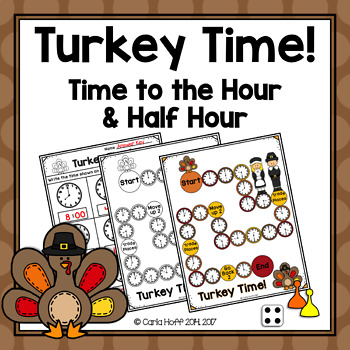 Turkey Time! {Freebie} Time to the Hour and Half Hour