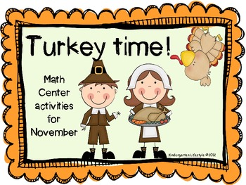 Turkey Time -Good Gobbling Math Centers