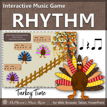 Turkey Time - Interactive Rhythm Game (Eighth Notes)