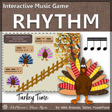 Thanksgiving Music Game ~ Sixteenth Notes Interactive Rhythm Game {Turkey Time}