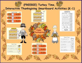 (FREEBIE) Turkey Time, Interactive Thanksgiving Smartboard