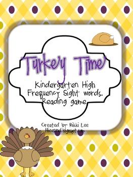 Turkey Time Kindergarten Sight Word Game