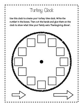 Turkey Time!: Literacy and Math Activities for Thanksgiving