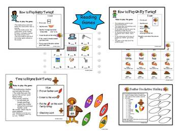 Turkey Time - Literacy and Math Activities with SAC