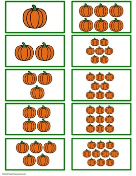 Turkey Time! Math Center for Numbers 1-10