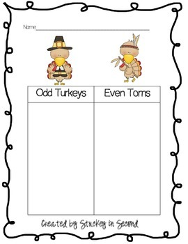 Turkey Time Math Centers-EIGHT Centers!!!