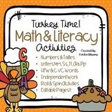 Thanksgiving Math & Literacy Activities {Spin & Roll}