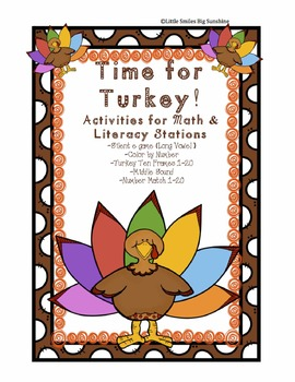 Turkey Time - Math & Literacy Stations