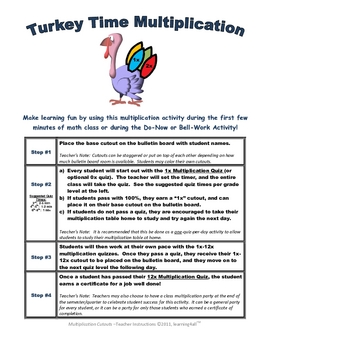 Turkey Time Multiplication