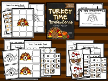 Turkey Time Number Bond Center and Activity {Aligned to the Common Core}