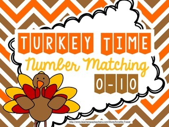 Turkey Time Number Matching 0-10