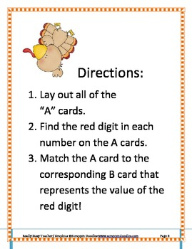 Turkey Time Place Value