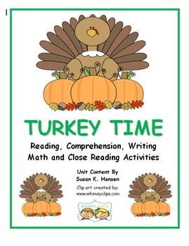 Thanksgiving: Turkey Time First Grade Activities
