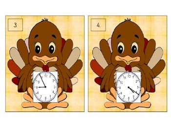 Turkey Time Scoot! (Time to the minute)