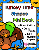Turkey Time Shapes Cut and Paste Mini Book